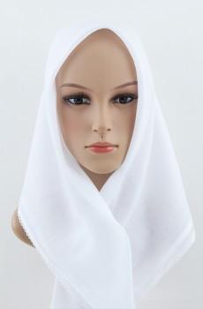 Beyaz %100 Pamuklu İç Başörtüsü