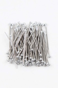 Gümüş Çelik Eşarp Şal İğnesi 100 Adet
