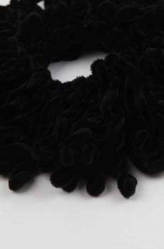 Kadife Topuz Tokası Siyah
