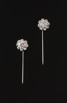 Kristal Çiçekli Eşarp - Şal İğnesi