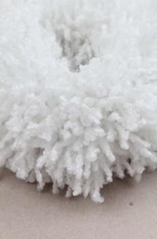 Puf Topuz Tokası Beyaz