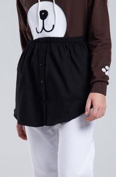 Siyah Poplin Gömlek Etek