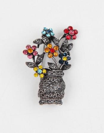 Çiçek Figürlü Broş İğne