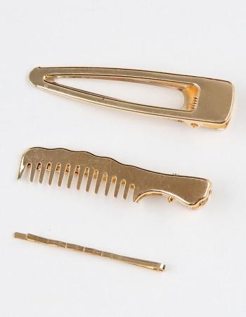 Gold Renkli Üçlü Toka Seti Modelleri