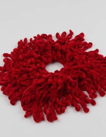 Kadife Topuz Tokası Kırmızı