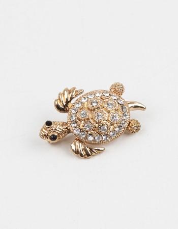 Kaplumbağa Figürlü Broş İğne