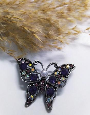Kelebek Figürlü Broş İğne