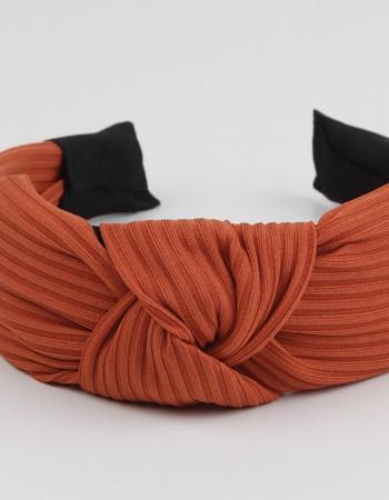 Safran Düğümlü Naturel Pliseli Taç