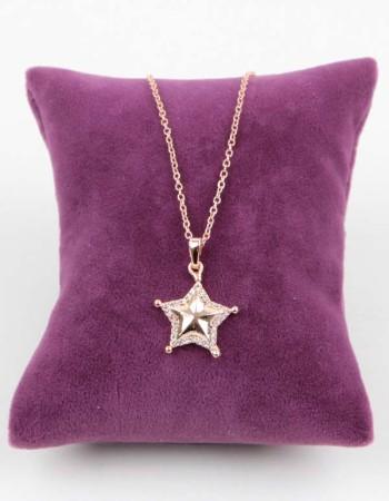 Zirkon Taşlı Yıldız Figürlü Kolye